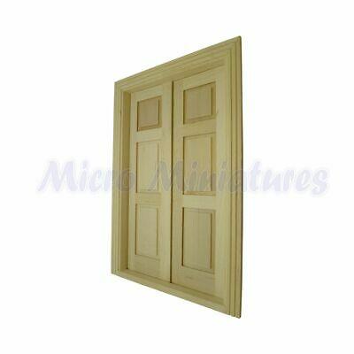 Dolls House Double Panel Door 1/12th Scale (01106)