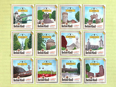 the complete set of beer labels special edition Berliner Kindl (12 beer labels)