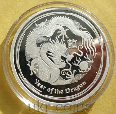 2012 Australia Lunar II Year of the Dragon 1/2Oz Silver Proof Coin 50 Cents #2