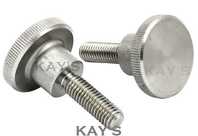 M3 Knurled Thumb Screws A1 Stainless Steel Hand Grip Knob Bolts High Type