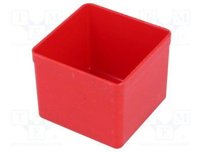 Container: for boxes; 54x54x45mm; red; polystyrene [5 pcs]