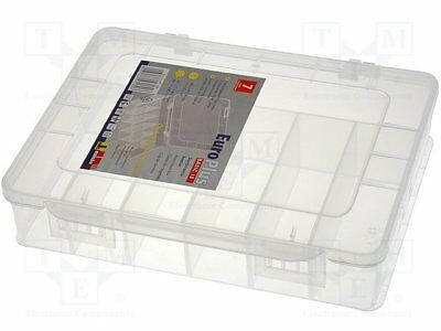 Container: compartment box; 180x149x40mm; white; polypropylene [1 pcs]