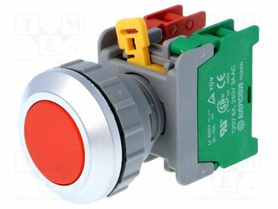 1Pcs XB2-BA42 Red Sign Momentary Push Button Switch 1NC Normally Close 10A400VAC