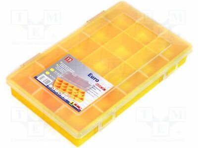 Container: compartment box; 290x185x46mm; yellow; polypropylene [1 pcs]