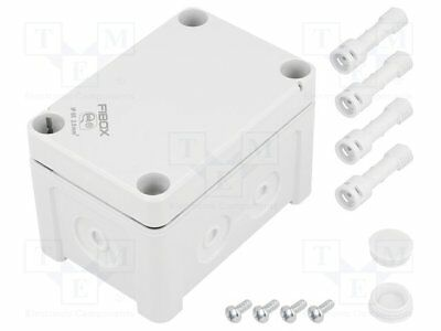 Enclosure: junction box; X:65mm; Y:95mm; Z:60mm; wall mount; ABS [1 pcs]