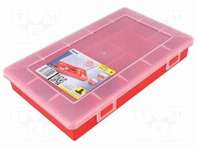 Container: compartment box; 290x185x46mm; red; polypropylene [1 pcs]