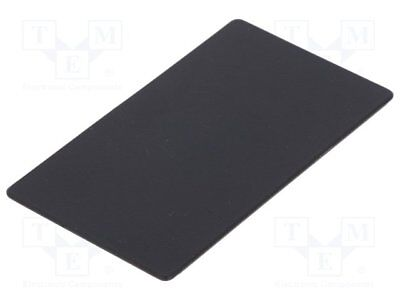 Pull-out safety stop; 70x1x40mm; black; plastic [1 pcg]