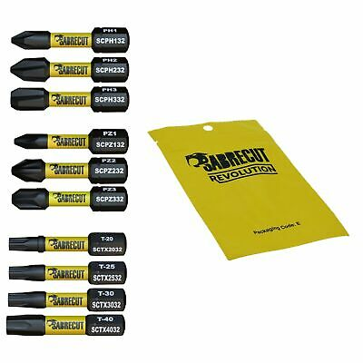 SabreCut Impact Driver Bits Mixed PZ PH TX Milwaukee DeWalt Professional 32mm