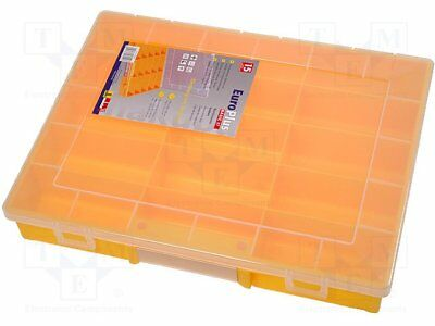 Container: compartment box; 370x295x58mm; yellow; polypropylene [1 pcs]
