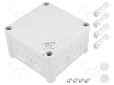 Enclosure: junction box; X:110mm; Y:110mm; Z:65mm; wall mount; ABS [1 pcs]