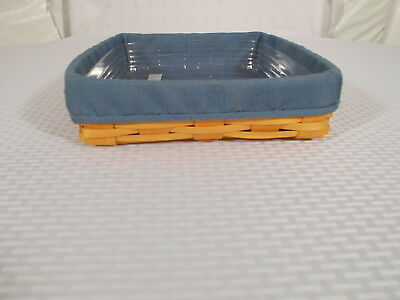 LONGABERGER  Paper Tray Basket 2002 Cornflower Liner and Protector Combo