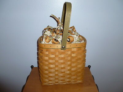 Longaberger 2003 Autumn Tote Combo with Pumpkin Liner