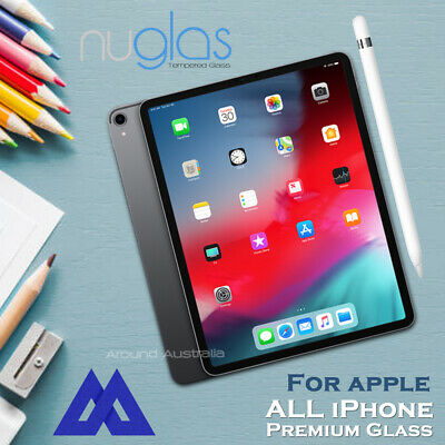 Genuine NUGLAS Tempered Glass Screen Protector for iPad 4 5 Air Mini Pro 11 12.9