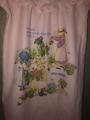 Vintage Girls Size 8 Pink Hollie Hobby Nightgown