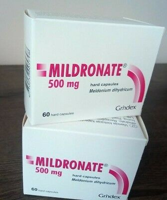 2x MeIdonium MiIdronate - 500mg total 120capsules (two boxes)