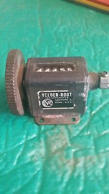 vintage used Veeder-Root Mechanical Counter 5 digit  free shiping