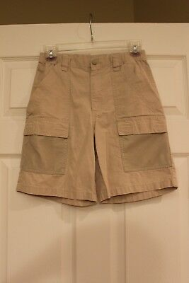 Boys Columbia PFG Half Moon Shorts - Color: Fossil, Size L (14-16) - 2 pair