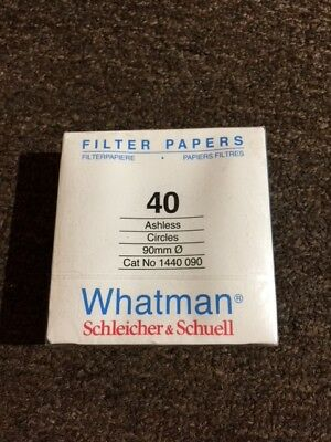 Whatman Filter Paper #40 Ashless, 90mm, 100 count. 1440-090 Listing 2