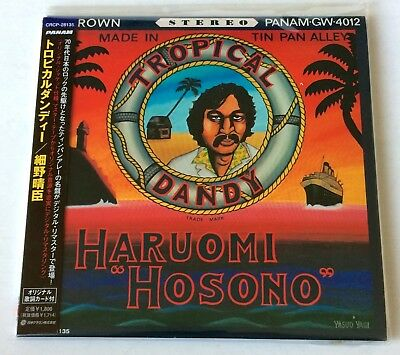 "Haruomi Hosono ""tropical Dandy"" Ultra-Rare Original Japanese Mini-Lp Cover Cd!!"