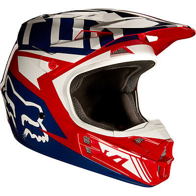 Fox - V1 Falcon Red/White Unisex Adult Helmet - 2X-Large