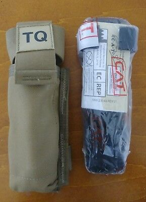North American Rescue Red Tip CAT Combat Application Tourniquet W Coyote Pouch!!