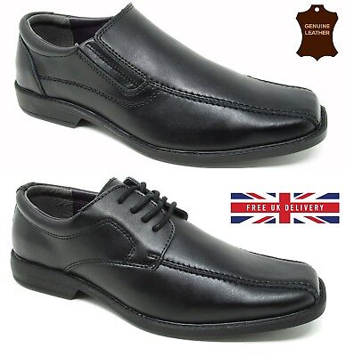 Mens Leather Black Shoes Casual Formal Office Work New UK Sizes 6 7 8 9 10 11 12