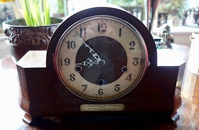 Art Deco Westminster & Whittington Dual Chiming Mantle Clock-Enfield-Running