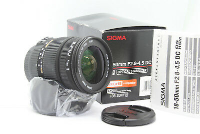 Sigma 18-50 mm F 2.8-4.5 DC OS HSM For SONY A-Mount Alpha  objectif lens Zoom