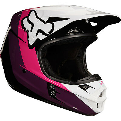 Fox - V1 Halyn Black/Pink Helmet - X-Small