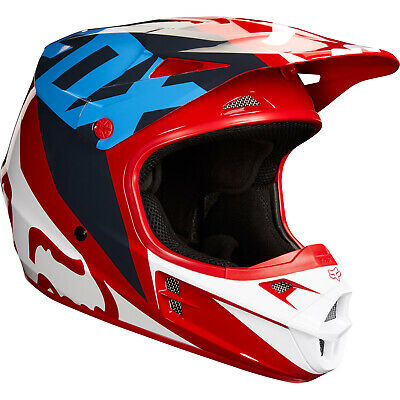 Fox - V1 Race Red Helmet - 2X-Large