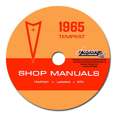 1965 Pontiac CD Shop Manual Set GTO Tempest LeMans Chassis Body AC Service