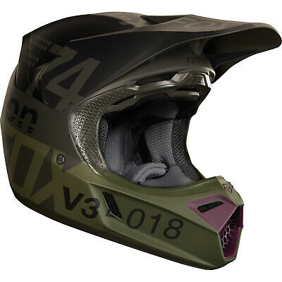 Fox - V3 Draftr Charcoal Helmet - Large