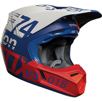 Fox - V3 Draftr Blue Helmet - Medium