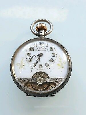 Antique solid silver 8 day pocket watch