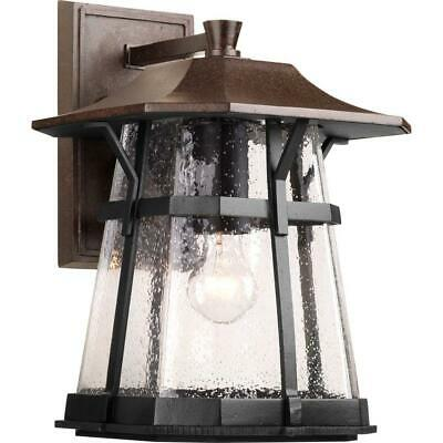 Progress Lighting Derby Collection 1-Light Large Espresso Outdoor Wall Lantern
