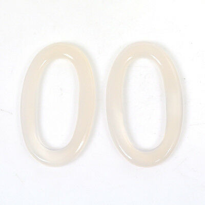 26.50cts Oxidian Gemstone Handmade Oval Shape Cabochon 23*38mm Pair For Jewelry