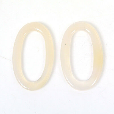 25.60cts Oxidian Gemstone Handmade Oval Shape Cabochon 23*38mm Pair For Jewelry