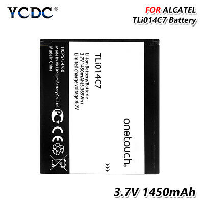 1450mAh Phone Battery TLi014C7 For Alcatel One Touch Pixi First 4024D 4024X D4F