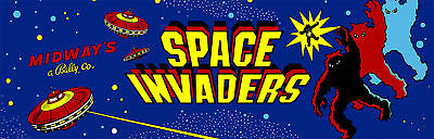 Space Invaders Marquee For Header/Backlit Sign