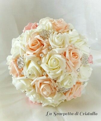 bouquet gioiello sposa rose in polyfoam