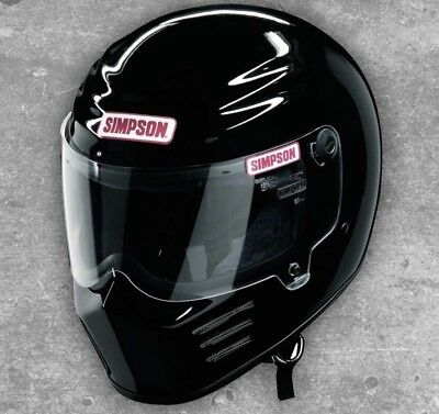 Simpson Helmets Outlaw Bandit Helmet Snell M  Rated Gloss Black LARGE HARLEY