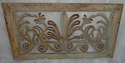 Pair of Antique Cast Iron Ornate Decorative Floor or Wall Grates
