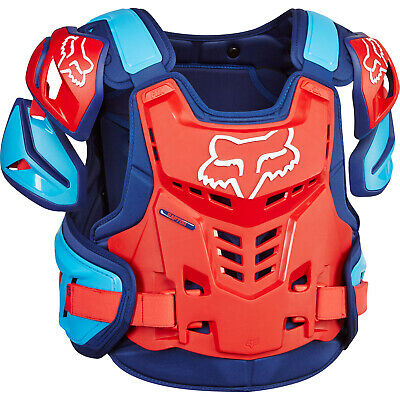 Fox - Raptor CE Blue/Red Men Chest Guard - Large/X-Large