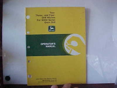John Deere Manual 2-3 and 4 Drill Hitches for 9000 Series Grain Drill Issue K8