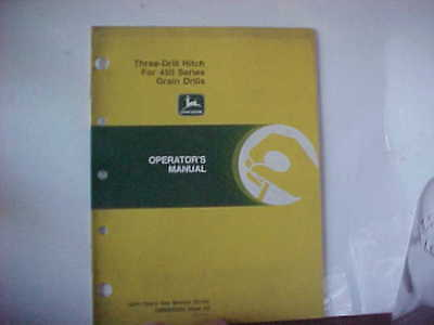 John Deere Manual Three Drill Hitch for 450 Series Grain Drill Issue E0