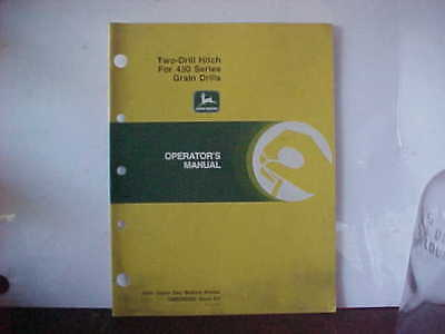 John Deere Operator's Manual Two-Drill Hitch for 450 Series Grain Drills E0