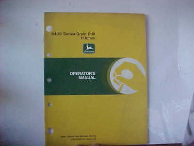 John Deere Manual 9400 Series Grain Drill Hitches Issue A8