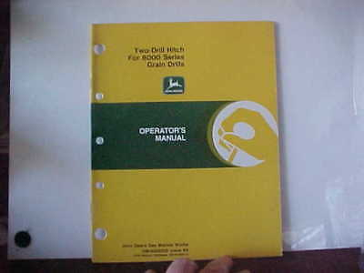 John Deere Manual Two Drill Hitch for 8000 Series Grain Drills Issue K8
