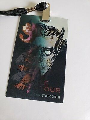 2018 A Pale Black Tour Ghost Lenticular Printed VIP Card With Lanyard