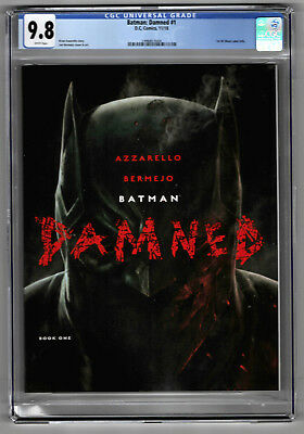 Batman: Damned #1 (2018) DC CGC 9.8 White DC Black Label Uncensored Batman